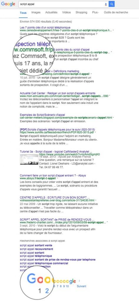 recherche commsoft google